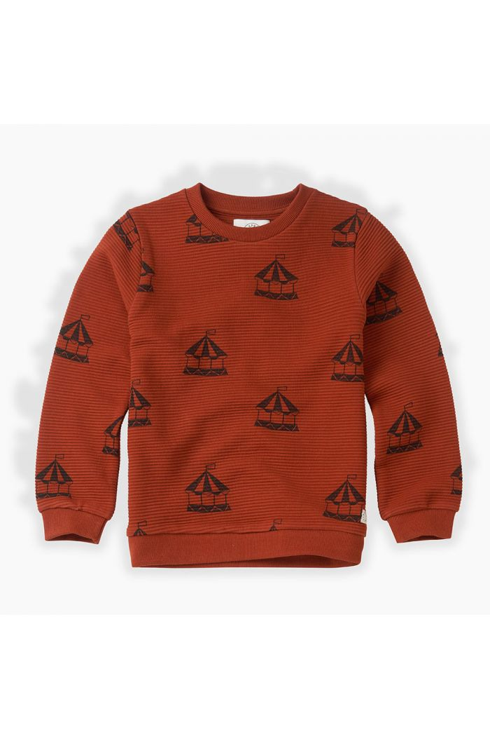 Sproet & Sprout Sweatshirt Carousel All-over print Copper Brown_1