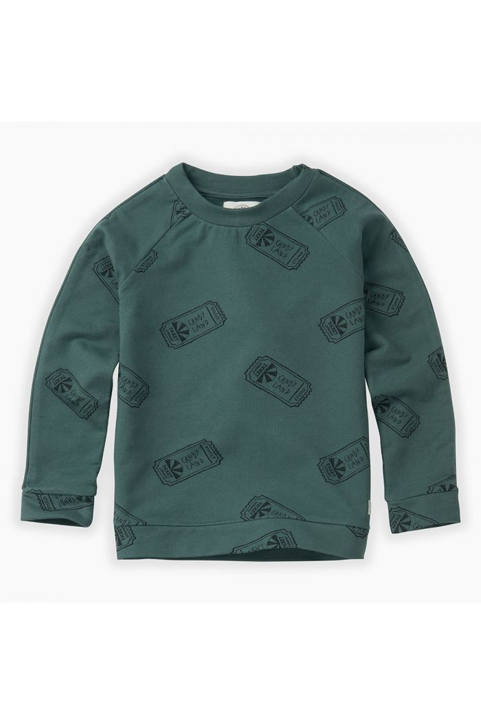 Sproet & Sprout Sweatshirt Raglan Ticket All-over print Dusty Green_1
