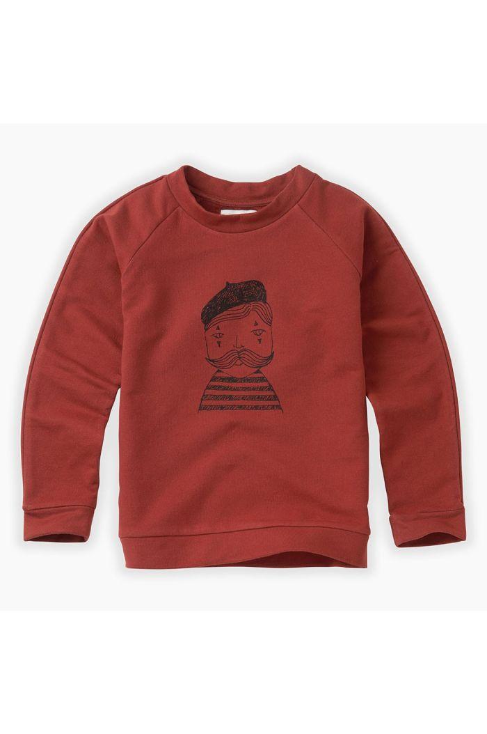 Sproet & Sprout Sweatshirt Raglan Pierrot Beet Maroon_1