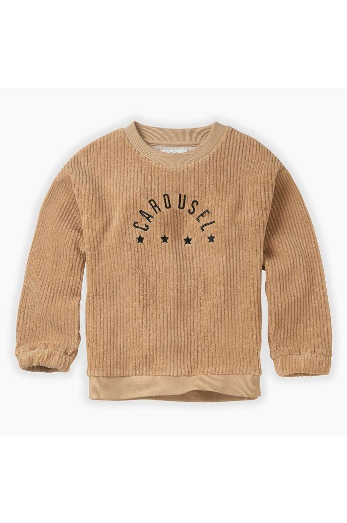 Sproet & Sprout Sweatshirt Terry Carousel Nougat_1