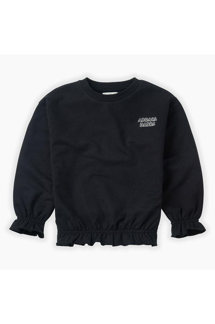 Sproet & Sprout Sweatshirt Ruffle Black_1