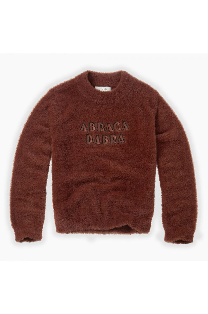 Sproet & Sprout Fuzzy Sweater Abracadabra Chocolate_1