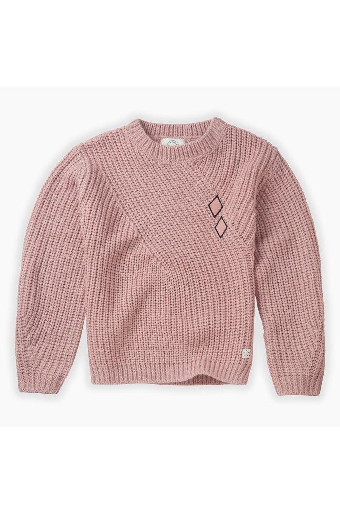 Sproet & Sprout Chuncky Sweater Diamond Mauve_1