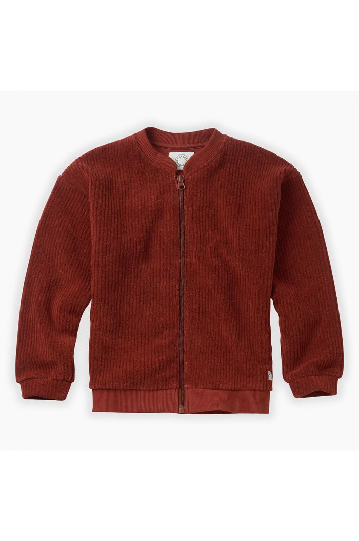 Sproet & Sprout Bomber Jacket Terry Beet Maroon_1