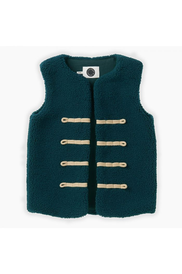 Sproet & Sprout Terry Gilet Deep Green_1