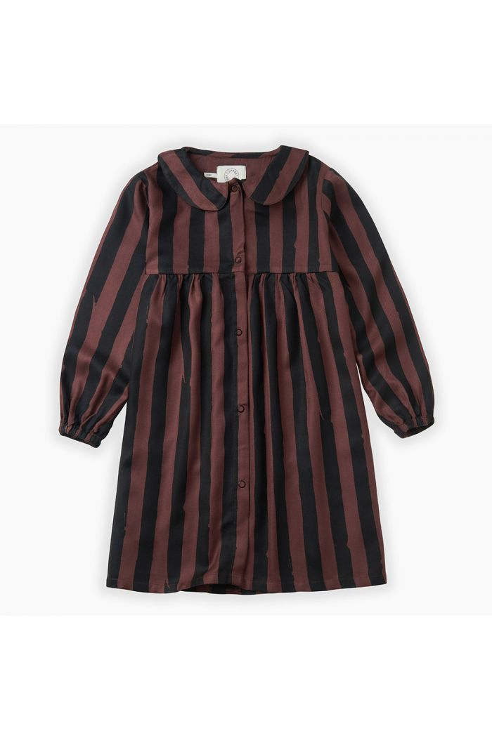 Sproet & Sprout Dress Painted Stripe Chocolate