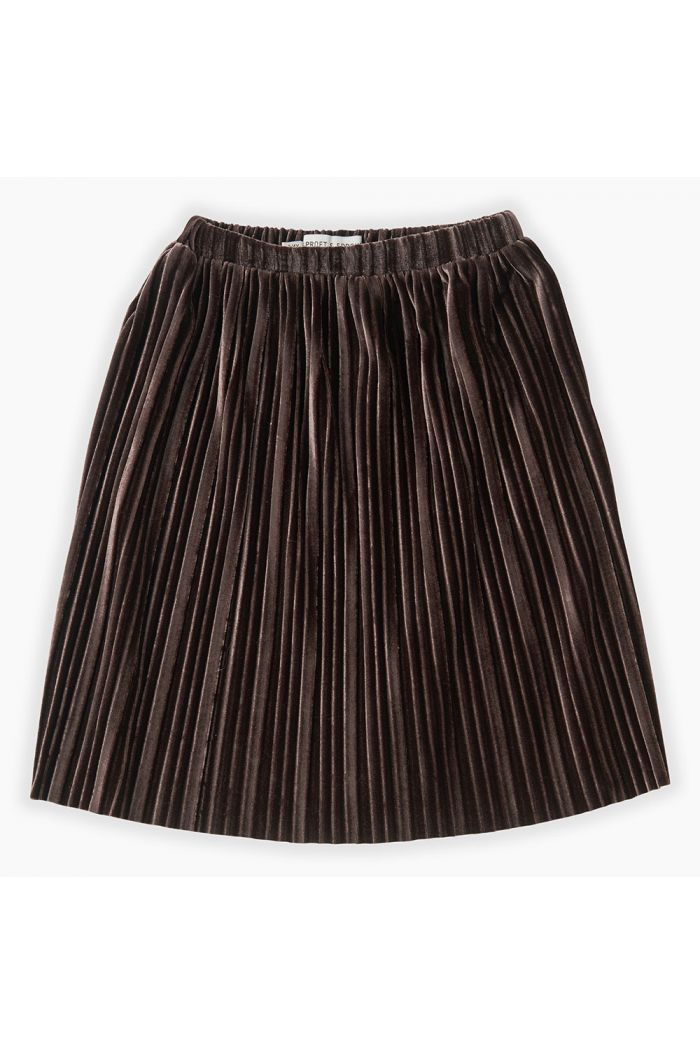 Sproet & Sprout Skirt Velvet Pleats Chocolate_1