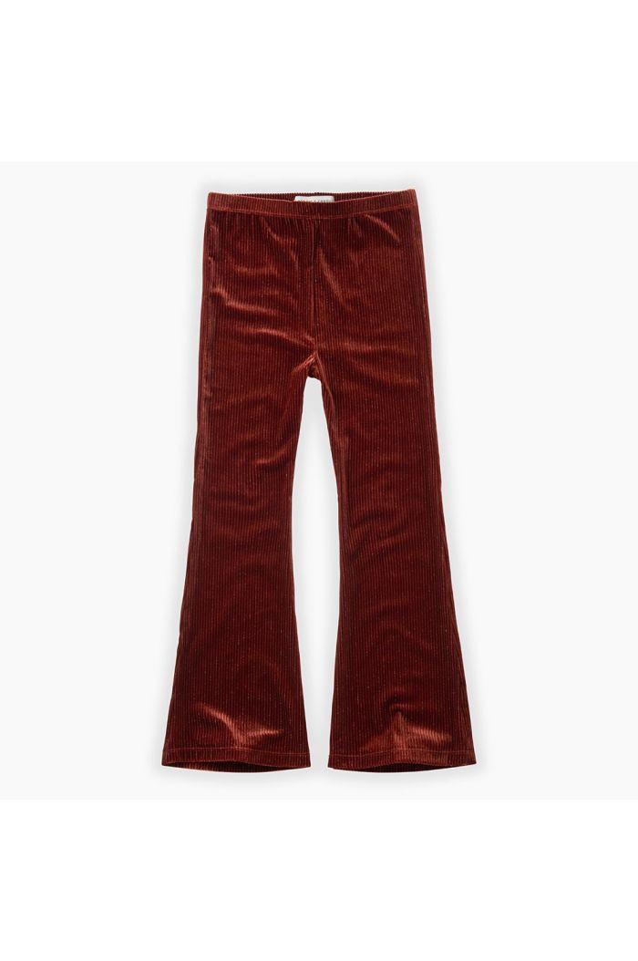 Sproet & Sprout Pants Velvet Flair Beet Maroon_1
