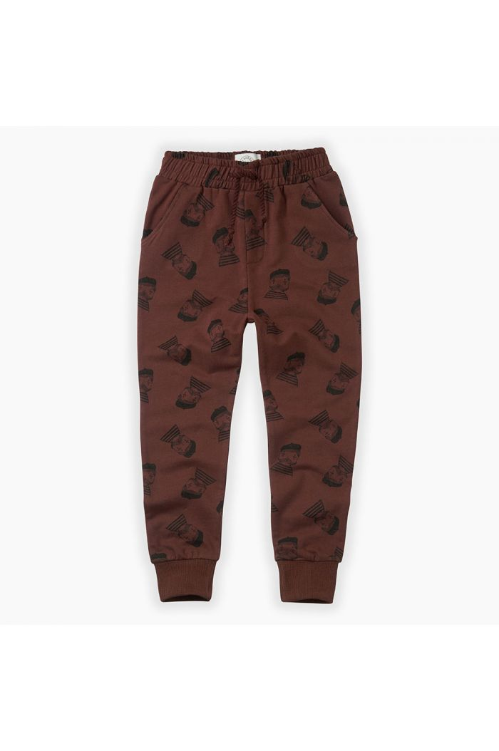 Sproet & Sprout Sweatpants Pierrot All-over print Chocolate_1