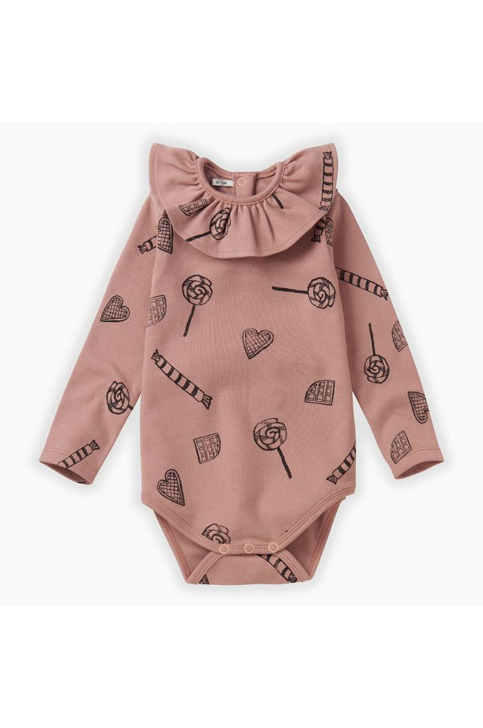 Sproet & Sprout Romper Collar Candy All-over print Mauve_1