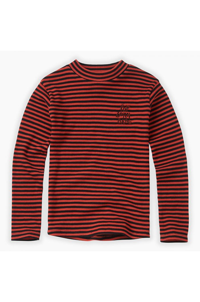 Sproet & Sprout Turtleneck Rib Stripe Grenadine_1