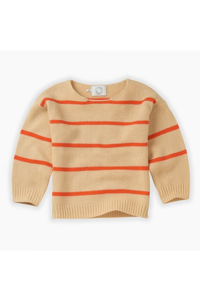 Sproet & Sprout Knit Sweater Stripe Sesame_1
