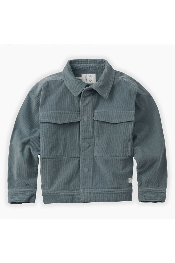 Sproet & Sprout Corduroy Jacket Stone Blue_1