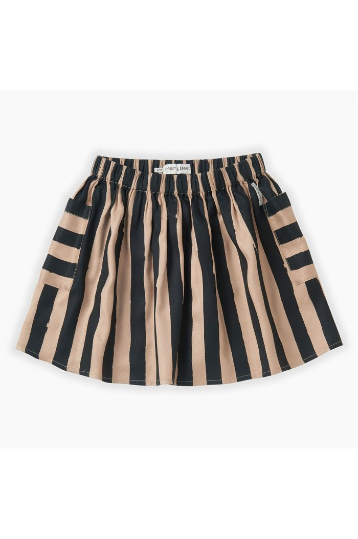 Sproet & Sprout Skirt Painted Stripe Sesame_1