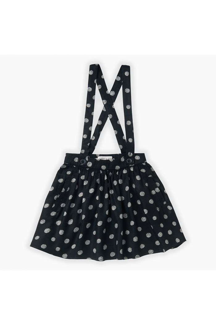 Sproet & Sprout Skirt Polka Dots Black_1