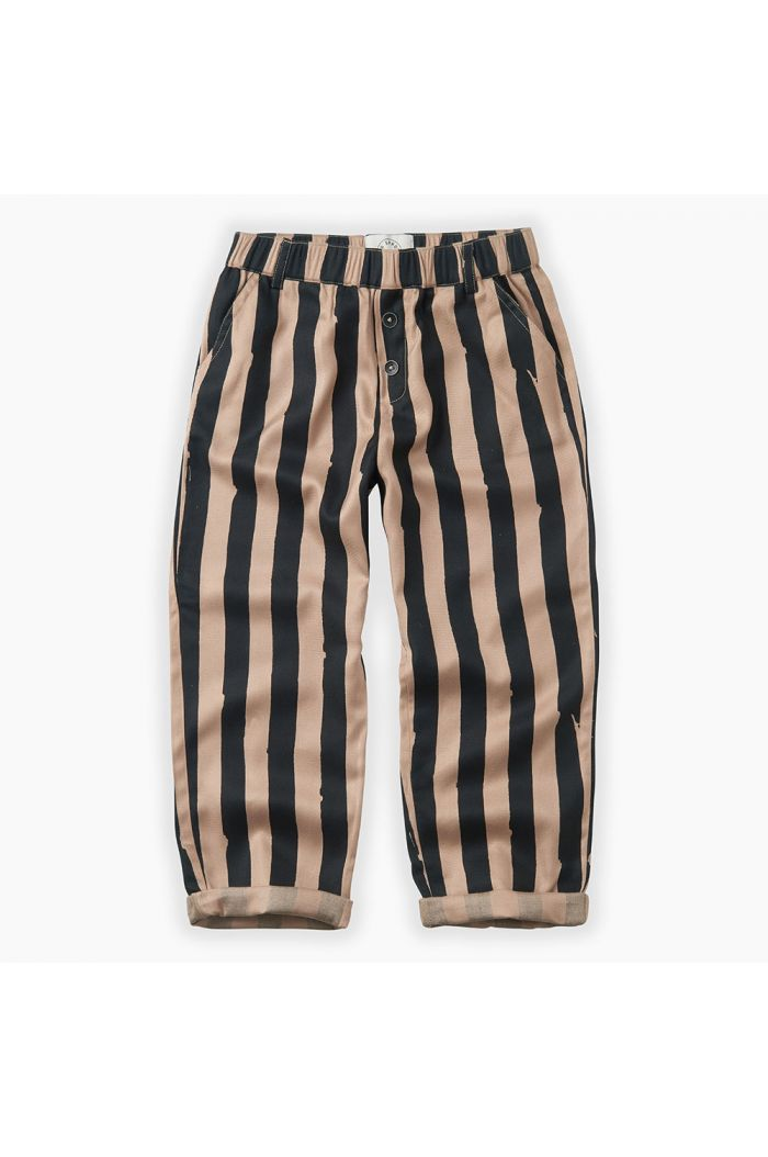 Sproet & Sprout Pants Painted Stripe Sesame_1