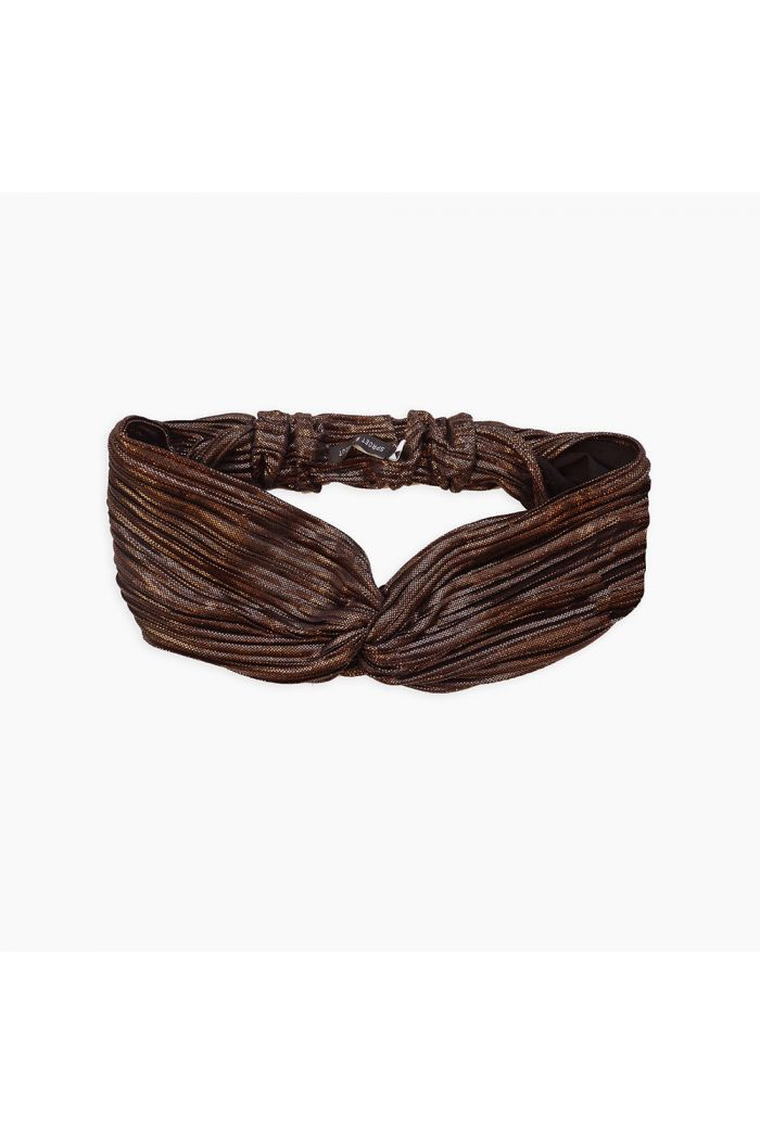 Sproet & Sprout Twist Headband Metallic Metallic Gold_1