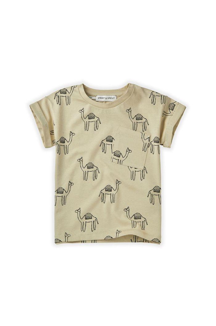 Sproet & Sprout T-shirt Print Camel Sesam Sesam_1