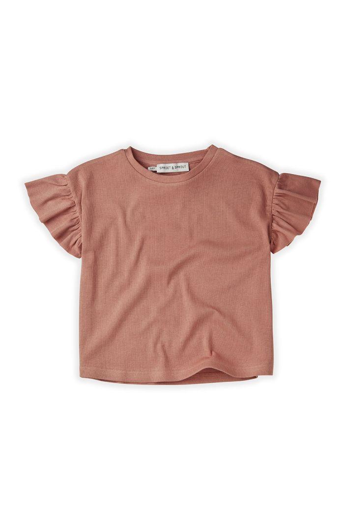 Sproet & Sprout T-Shirt Rib Ruffle Rose Rose_1