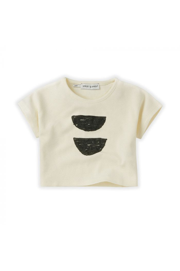 Sproet & Sprout T-Shirt Cropped Abstract summer white_1