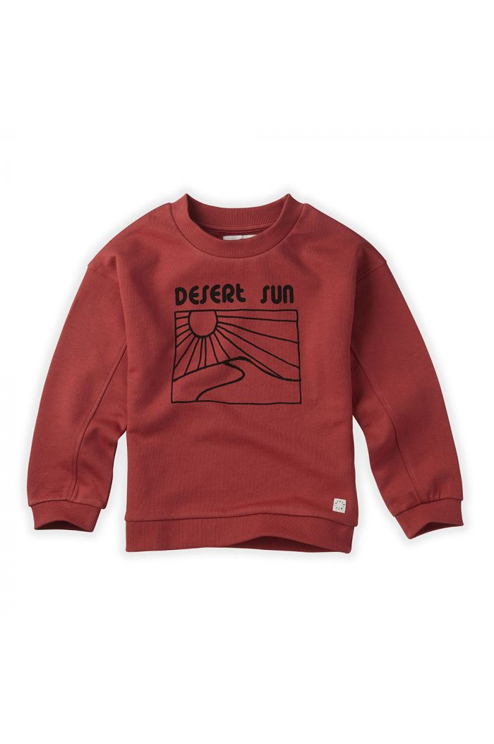 Sproet & Sprout Sweatshirt Desert Sun Cherry Red_1