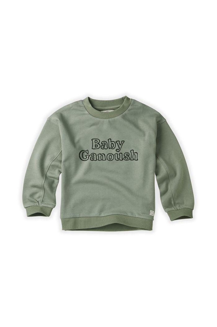 Sproet & Sprout Sweatshirt Baby Ganoush Eucalyptus_1