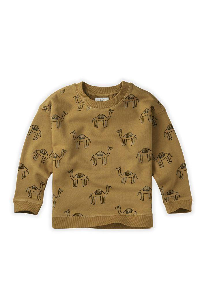 Sproet & Sprout Sweatshirt Print Camel Desert_1