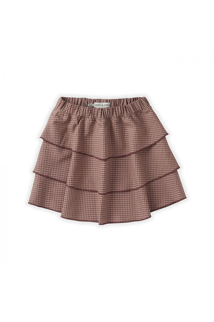 Sproet & Sprout Skirt Mini Check Desert