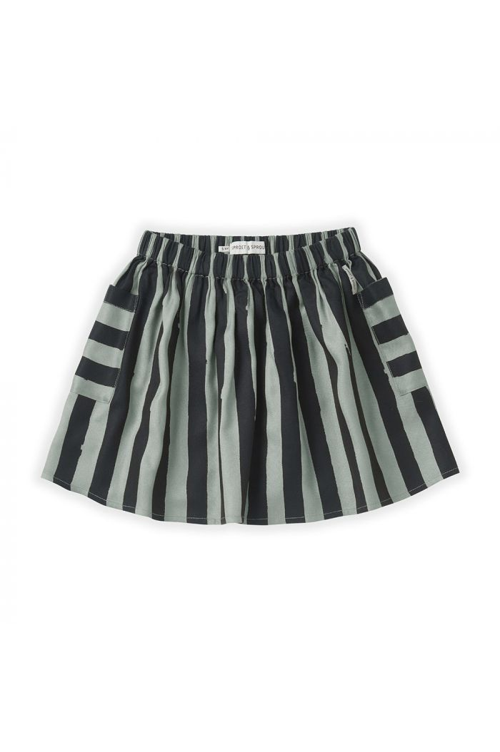 Sproet & Sprout Skirt Painted Stripe Eucalyptus