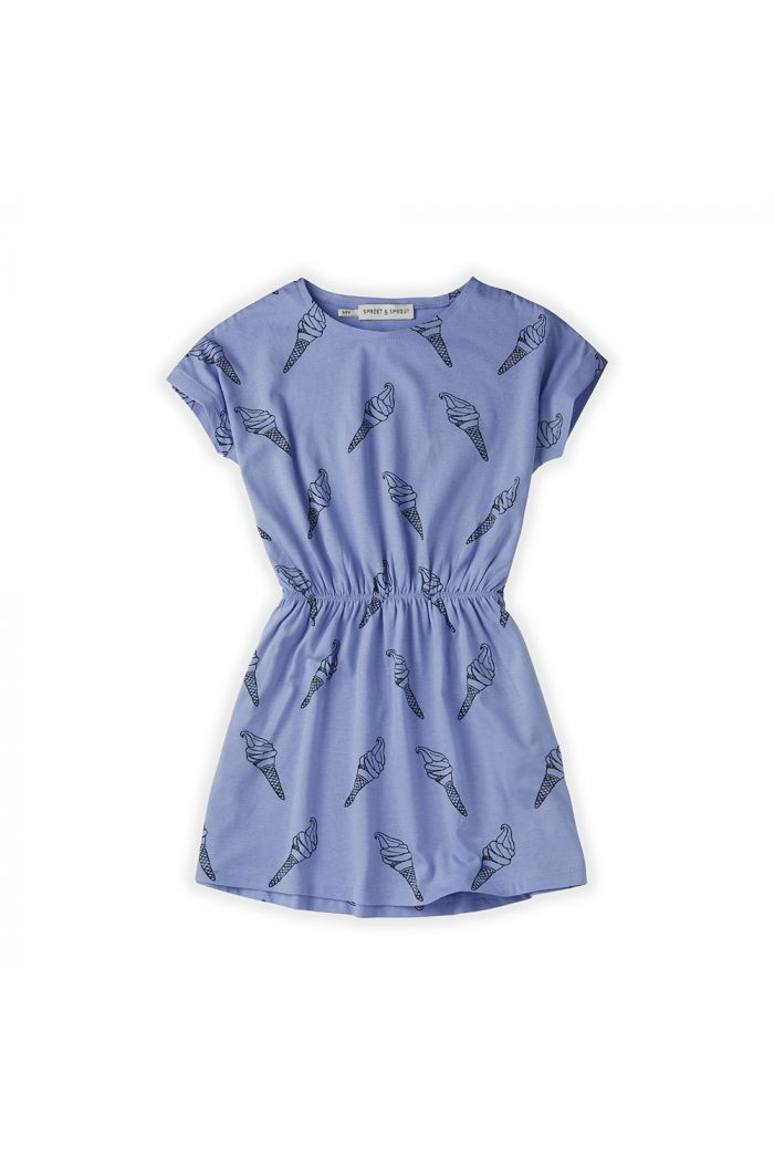 Sproet & Sprout Skater Dress Print Icecream Bright Blue_1