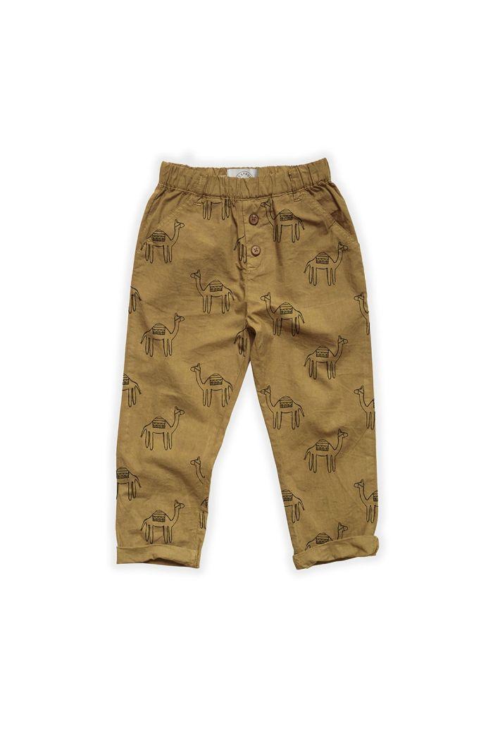 Sproet & Sprout Woven Pants Camel Print Desert