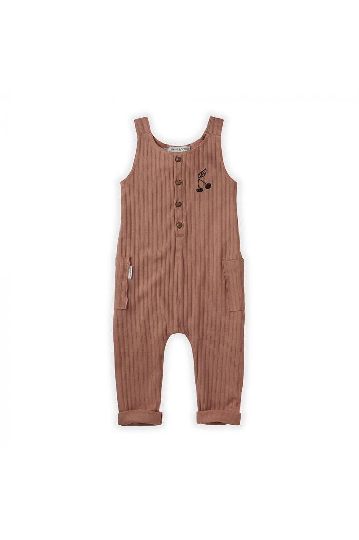 Sproet & Sprout Jumpsuit Rib Cherry Rose_1