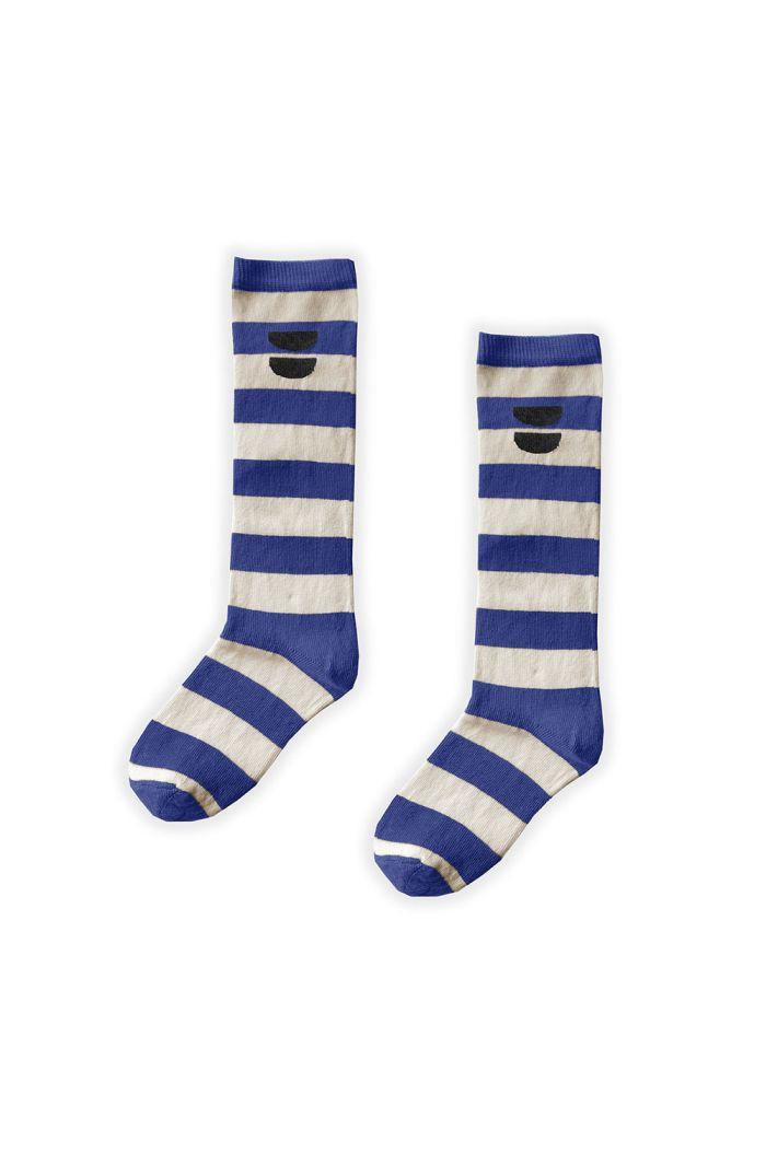 Sproet & Sprout High Sock Stripe Cobalt Cobalt Blue_1