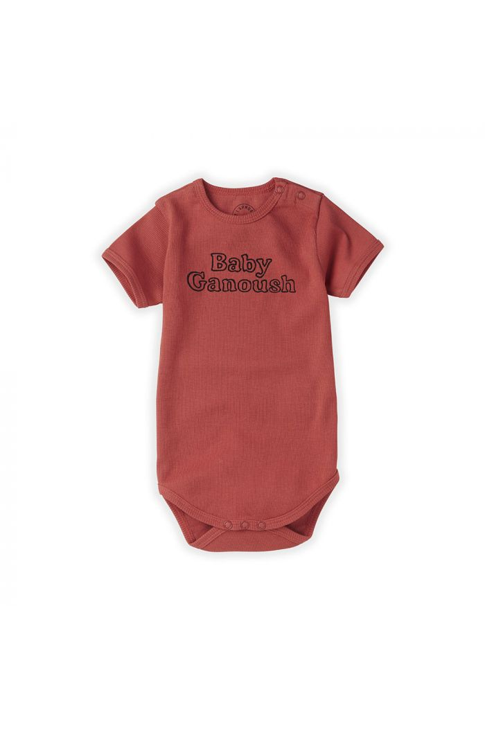 Sproet & Sprout Romper Baby Ganoush Cherry Red_1