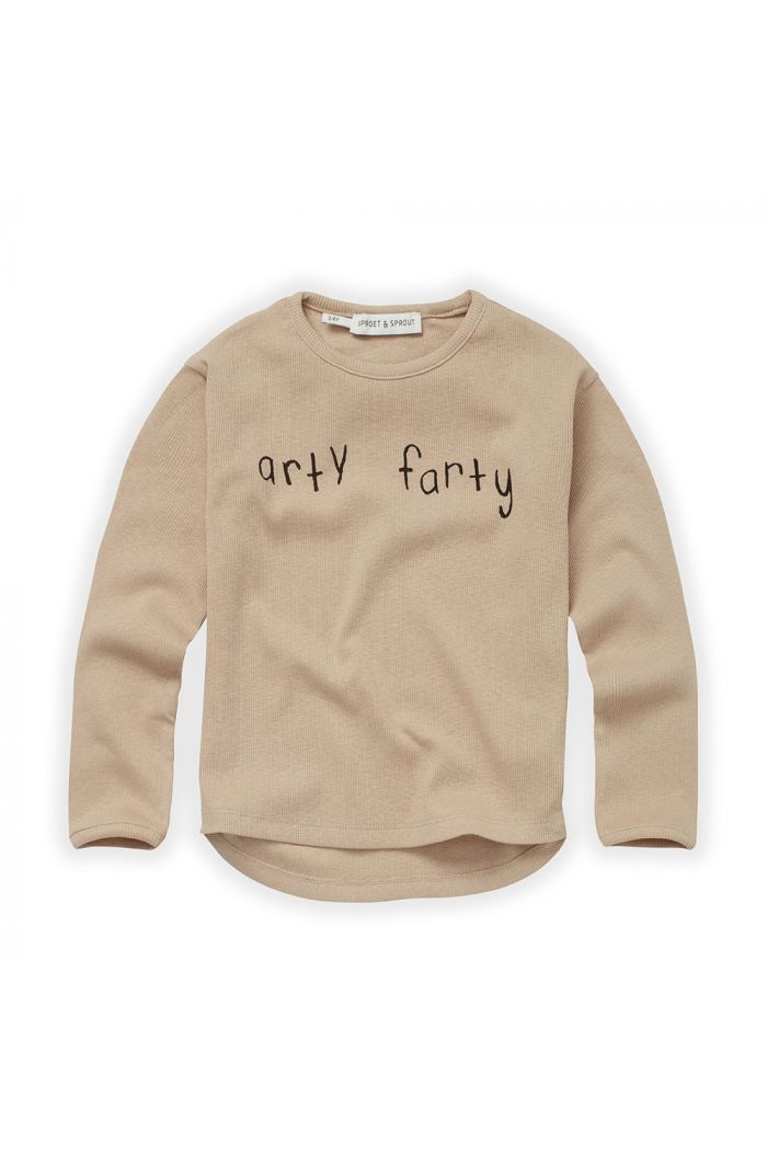 Sproet & Sprout T-shirt Rib Arty Farty Nougat_1