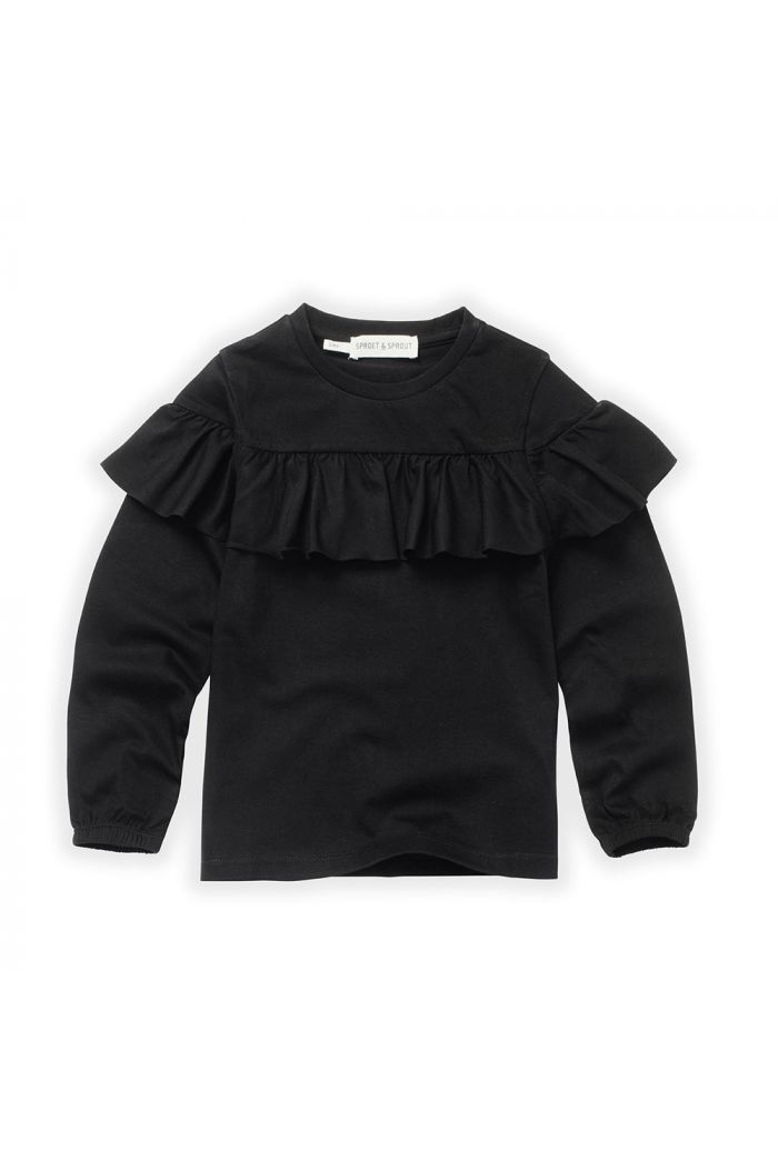 Sproet & Sprout T-Shirt Ruffle Black_1