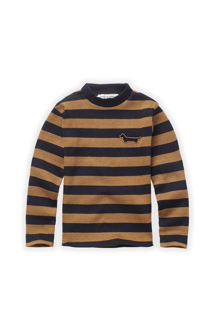 Sproet & Sprout T-shirt Turtleneck Stripe Mustard/Black_1