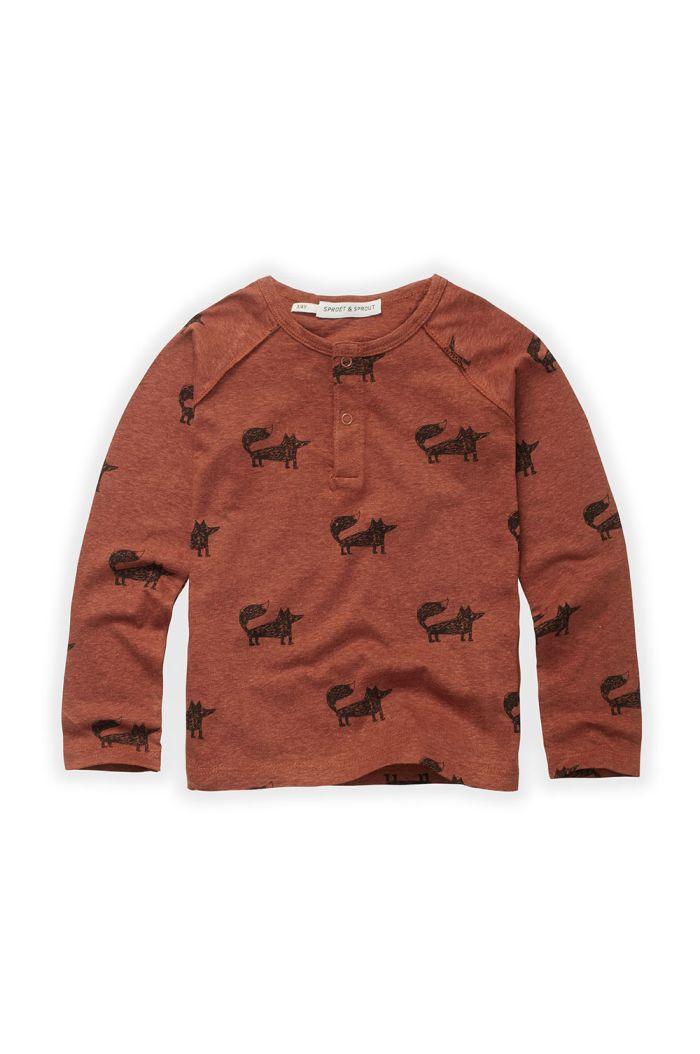 Sproet & Sprout Granddad T-shirt Fox Print Auburn_1