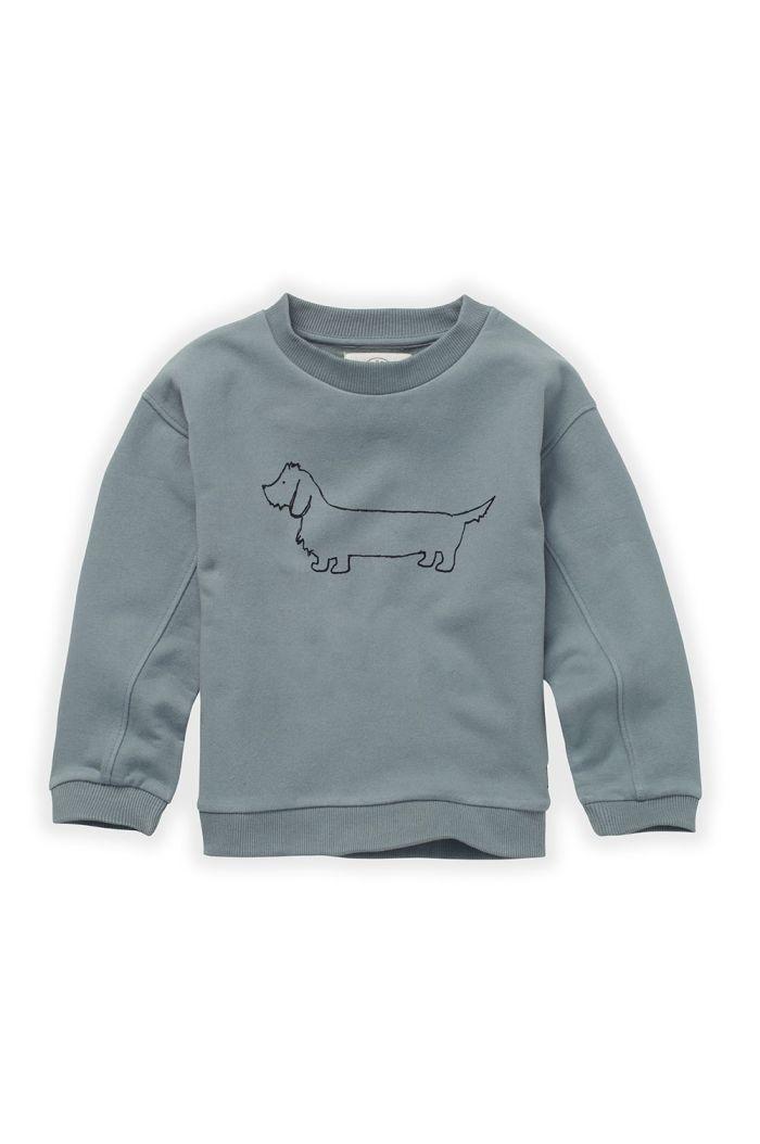 Sproet & Sprout Sweatshirt Sausage Dog Lake Blue_1