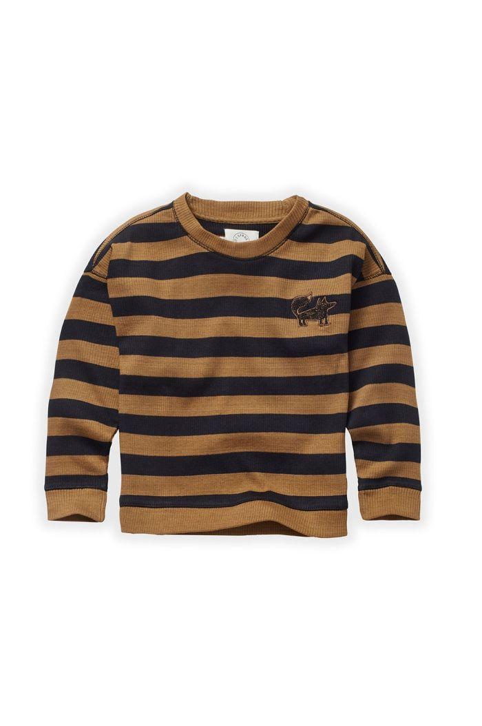 Sproet & Sprout Sweatshirt Stripe Mustard/Black_1