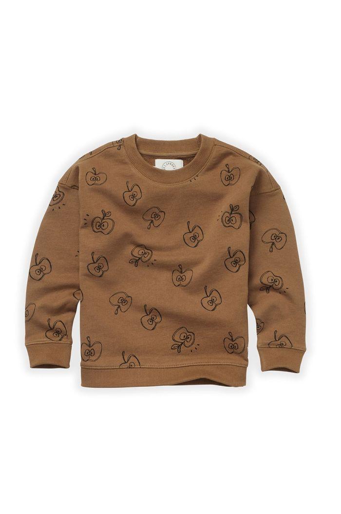 Sproet & Sprout Sweatshirt Apple Print Mustard_1