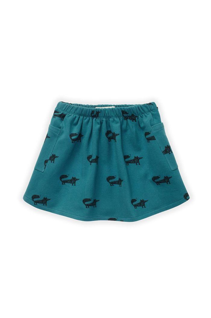 Sproet & Sprout Skirt Fox Print Pine Green_1