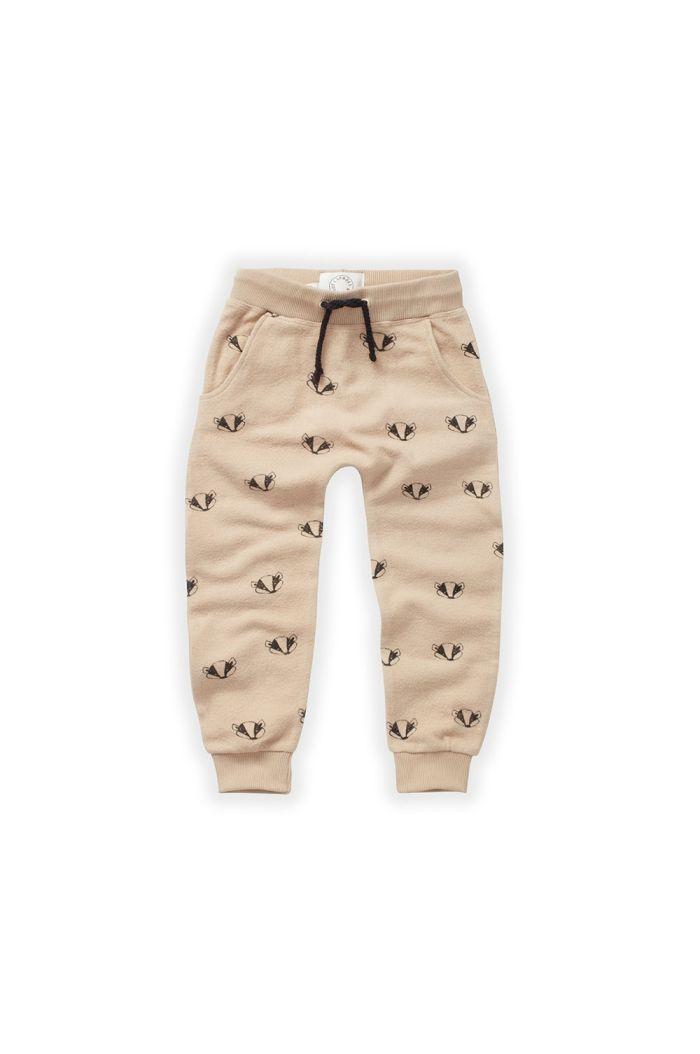 Sproet & Sprout Brushed Pants Badger Print Nougat_1