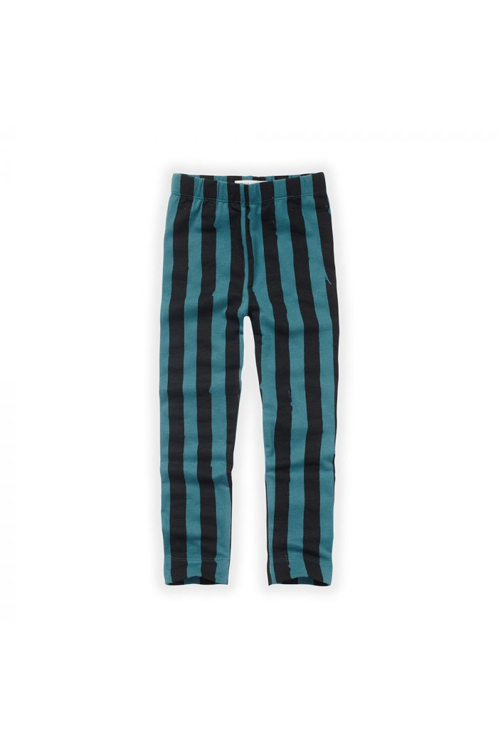 Sproet & Sprout Legging Painted Stripe Pine Green_1