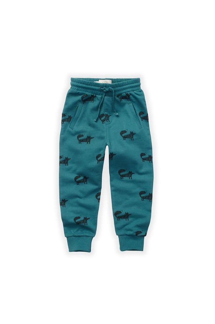 Sproet & Sprout Sweatpants Fox Print Pine Green_1