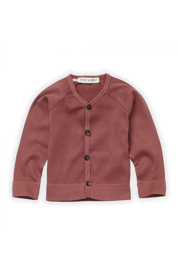 Sproet & Sprout Baby Rib Cardigan Fig_1