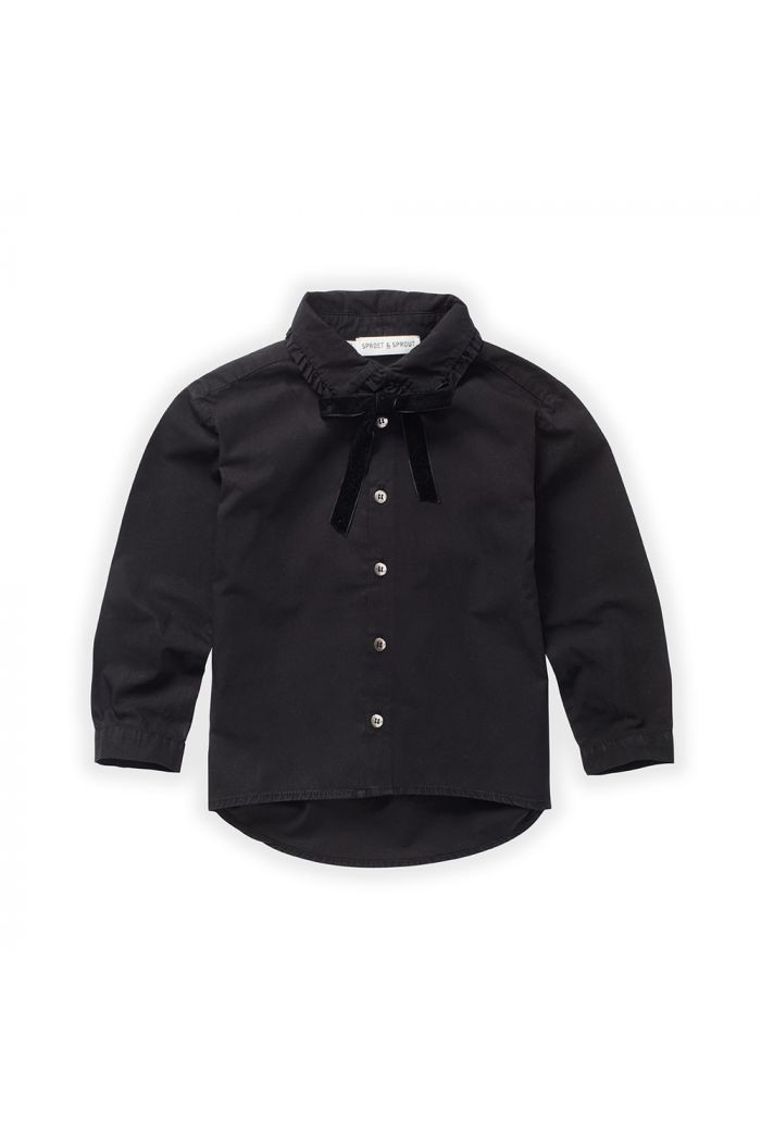 Sproet & Sprout Blouse Collar Bow Black_1