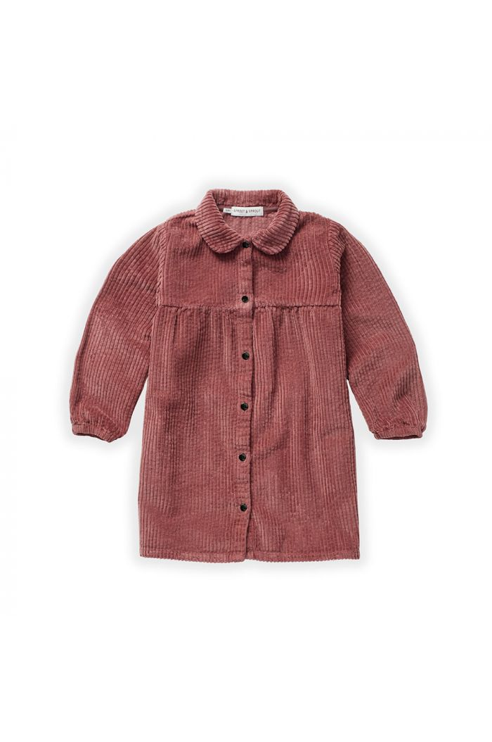 Sproet & Sprout Dress Corduroy Fig_1