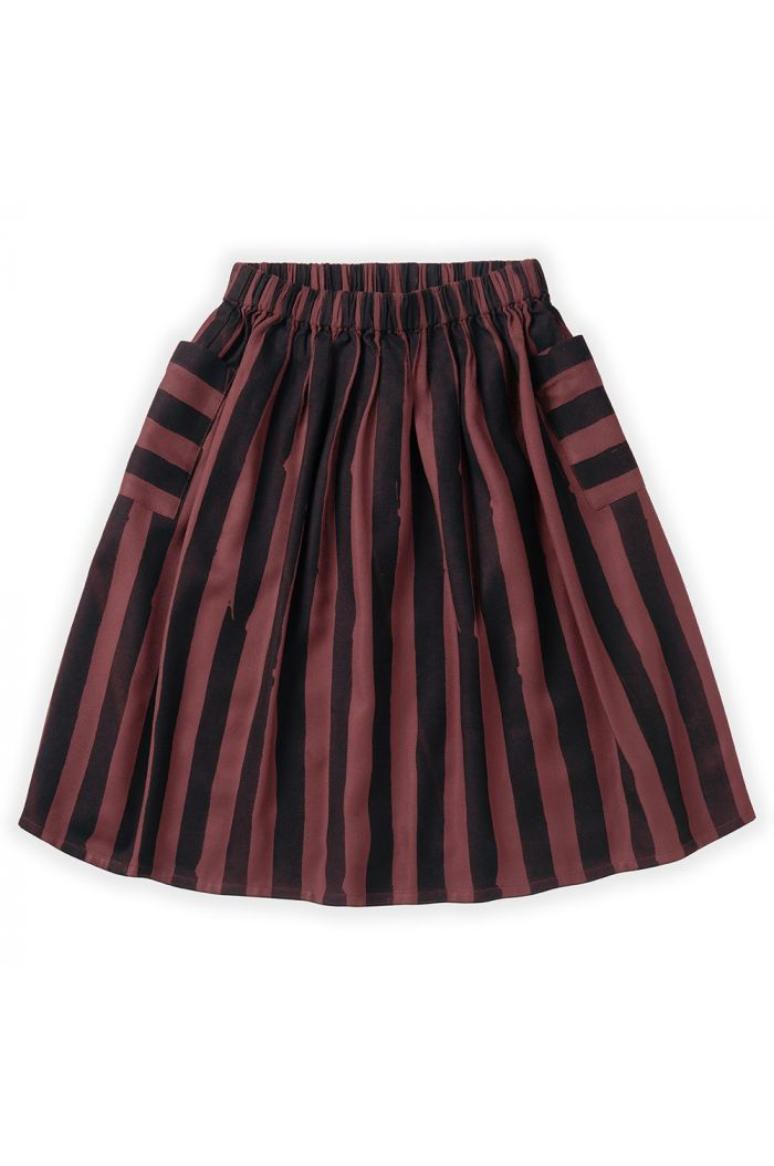 Sproet & Sprout Midi Skirt Painted Stripe Fig_1