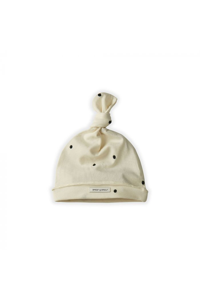 Sproet & Sprout Baby Beanie Dots Off white_1